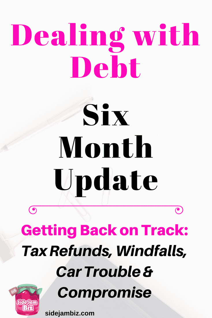 A 6 month debt update on this financial repayment journey. How we survived the holidays without buying gifts, ringing in the new year on a budget, credit card payments and other unexpected expenses. Progress made, a few steps backward, and a new financial perspective for the future (including an apology.)