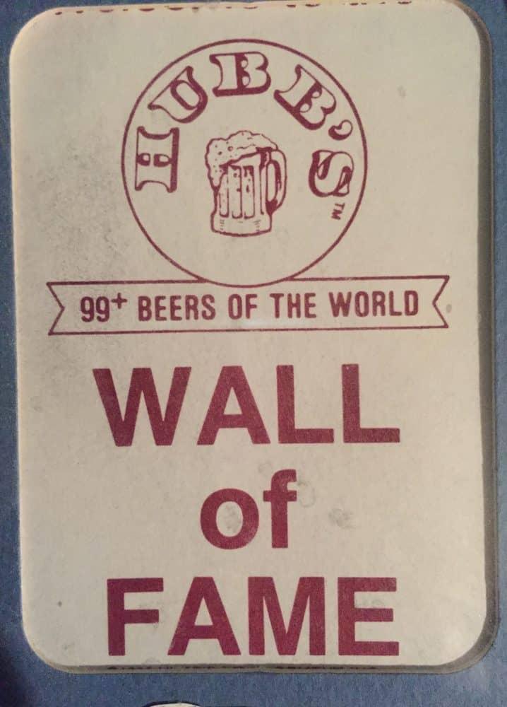 FI meetup - Hubb's Pub Wall of Fame placard
