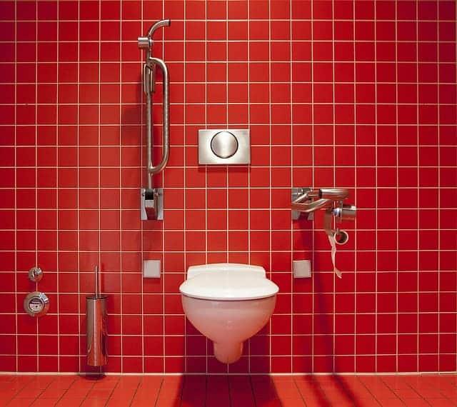 spotless public restroom