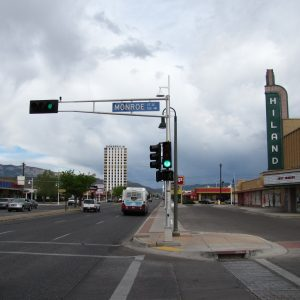 Central Avenue at the Hiland Theater Albuquerque NM