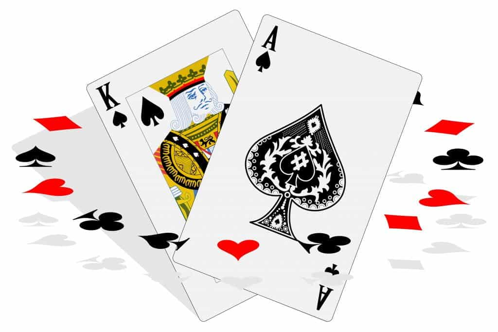 myVegas - photo of an ace and king of spades playing cards