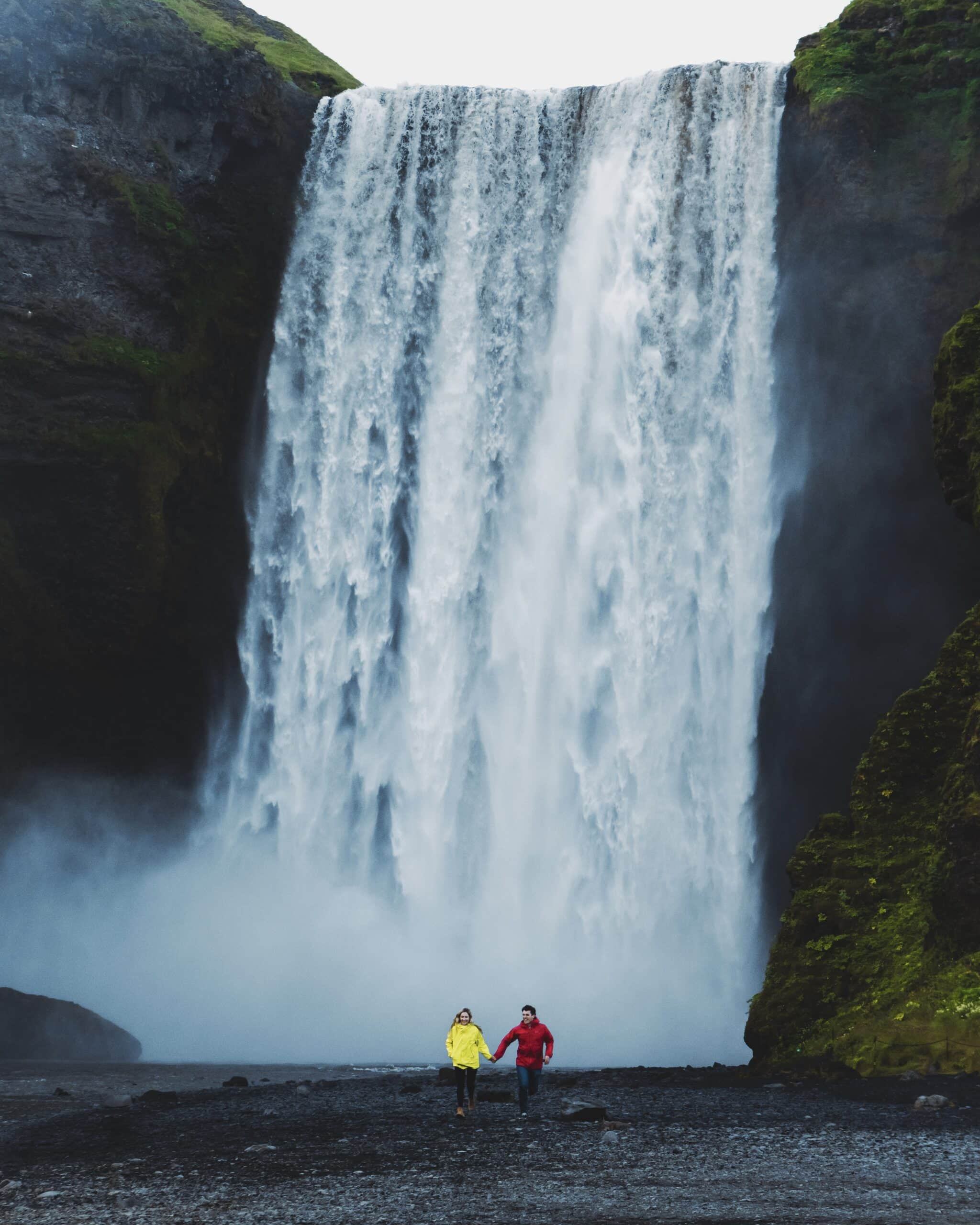The Lovers Passport Iceland Waterfall scaled