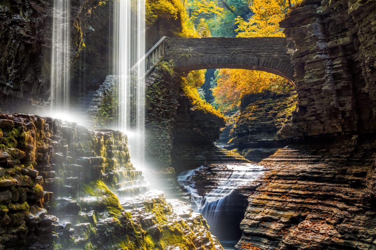 finger lakes - photo of Watkins Glen State Park waterfall canyon in Upstate New York