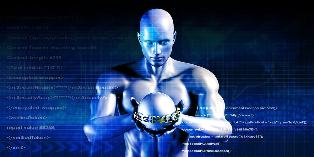 hedge fund-animation of a muscular man holding a globe in front of a background